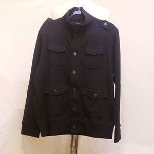 BANANA REPUBLIC Black Zippered Sweater/Jacket